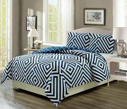 cortez navy white reversible comforter set