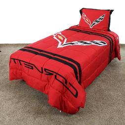 Corvette Reversible Comforter Set with Sham, Twin, Full or Q