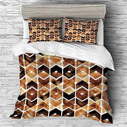 Cotton Bedding Sets Duvet Cover with Pillowcases Printed Com