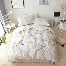 VClife Floral Girl Bedding Sets Cotton Chic Duvet Cover Hote
