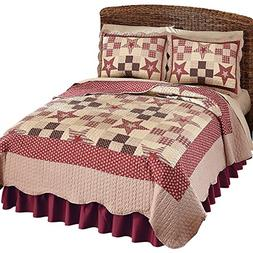 Country Star Checkered Floral Patchwork Reversible Lightweig