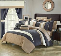 Chic Home Covington 24 Piece Comforter Set Embroidered Bed i