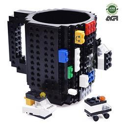 Kyonne Creative DIY Build-on Brick Mug, Lego Style Coffee Mu