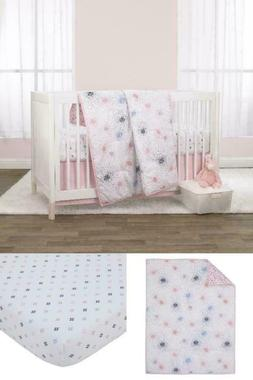 Crib Bedding Set 3 Piece Comforter, Fitted Crib Sheet, Dust