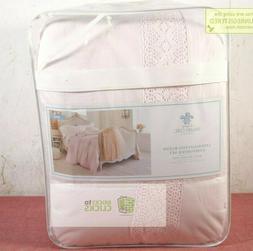 Simply Shabby Chic- Crochet Trim Linen Blend Comforter Set,