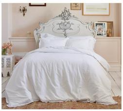 Simply Shabby Chic Crochet Trim Linen Blend Comforter Set, T