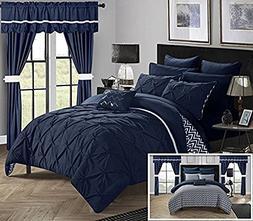 Chic Home Jacksonville 20 Piece Reversible Comforter, Queen,