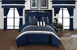 Chic Home CS2877-AN Dinah 24 Piece Bed in A Bag Comforter Se