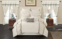 Chic Home CS3135-AN Mayan 24 Piece Bed in A Bag Comforter Se