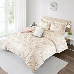 Cute Twin Comforter Set Gold Clearance for Teen Girl Women D