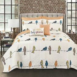 Lush Decor Lush Décor Rowley Birds 7 Piece Quilt Set King M