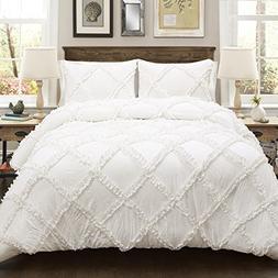 Lush Decor Lush Décor Ruffle Diamond 3 Piece Comforter Set,