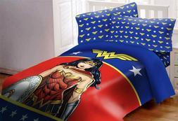 DC Comics Justice League Wonder Woman Twin Size Bed Comforte
