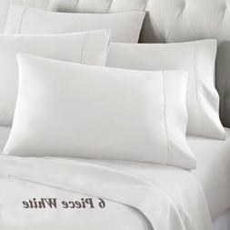 DEEP POCKET BAMBOO SERIES 6 PIECE BED SUPER SOFT SHEET SET A