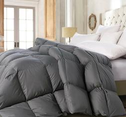 Deluxe 1200 TC Gray Down Alternative Comforter 100% Cotton,
