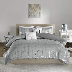 Intelligent Design Raina Comforter Set Full/Queen Size - Gre