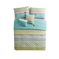 VCNY Home Dharma Reversible Stripes 5 Piece Bedding Comforte