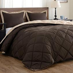 downluxe Lightweight Solid Comforter Set  with 2 Pillow Sham