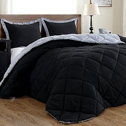 downluxe Lightweight Solid Comforter Set  with 1 Pillow Sham