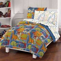 Dino Blocks Bed Set, Twin