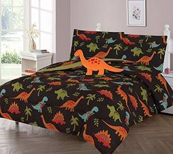 WPM Dinosaur Brown print bedding set choose from Full/Twin c