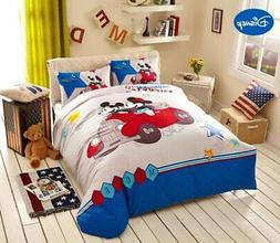 Disney Cartoon Mickey and Minnie Mouse Travel Bedding Textil