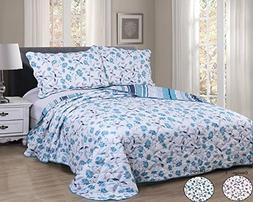 Vivinna Disperse Printing Quilt Set King Size -3PCS Bedsprea