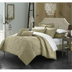 Chic Home Design Donna 7 Piece Comforter Set Twin, GREY
