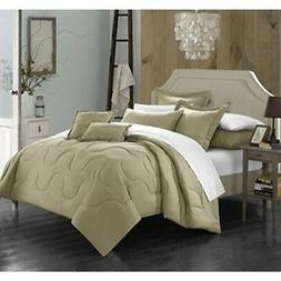 Chic Home Donna 7 Piece Comforter Set Minimalist Solid Color
