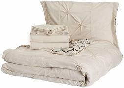Chic Home Dorothy Comforter Set, Queen, Beige
