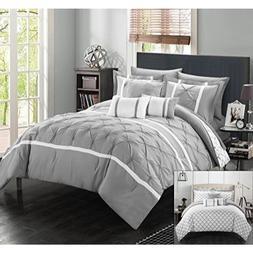 Chic Home Dorothy 10 Piece Comforter Set Queen Grey