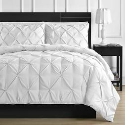 Comfy Bedding 3-Piece Pinch Pleat Comforter Set All Season P