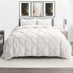 Down Alternative Comforter Set 3 Piece Pinch Pleated Duvet I