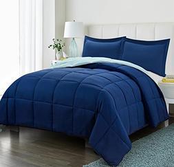 3pc Down Alternative Comforter Set - All Season Reversible C