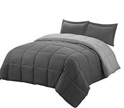 3pc Down Alternative Comforter Set -All Season Reversible Co