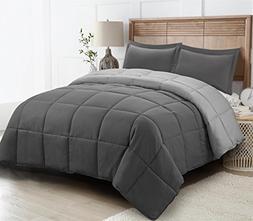 HIG 2pc Down Alternative Comforter Set -All Season Reversibl