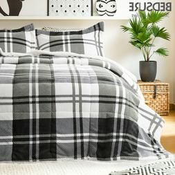 Bedsure Down Alternative Comforter Set Sherpa Reversible Duv