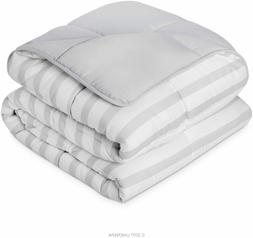 Linenspa Down Alternative Microfiber Twin Comforter Grey/Whi