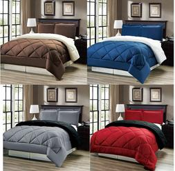 down alternative reversible comforter set twin full