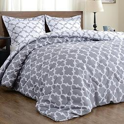 downluxe Lightweight Printed Comforter Set  with 1 Pillow Sh