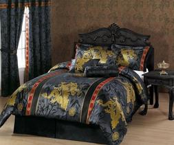 Dragon Comforter Set Full Queen King Asian Inspired Theme Or