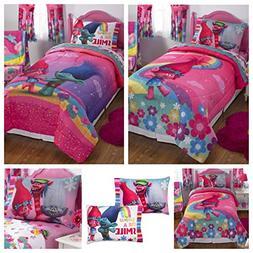 DreamWorks Trolls Complete 4 Piece Girls Comforter Set - Twi