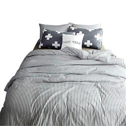 VM VOUGEMARKET 100% Cotton Duvet Cover Set King - Hotel Qual