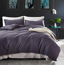 PerfectED Duvet Cover Set with Zipper Closure Microfiber Bed