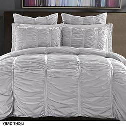 California Design Den Duvet Cover Set Ruffled Cotton All Sea