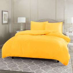 Duvet Cover Set Soft Brushed Comforter Cover W/Pillow Sham,