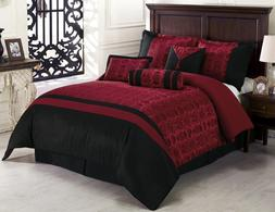 Chezmoi Collection Dynasty 7-Piece Oriental Jacquard Comfort