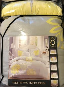 E & E Co.Ltd. KING 8 PIECE Comforter Set NEW WITH TAGS