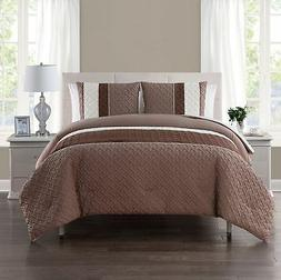 VCNY Home Edgemont 3 Pc Comforter and Pillow Shams Set, KING