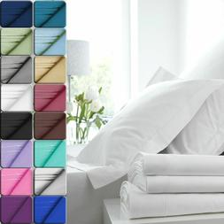 Egyptian Comfort 1800 Count Color Sheets Deep Pocket 4 Piece